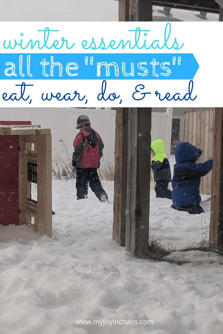 All the winter essentials - must do winter activities, must read books, must eat winter foods, and must wear winter fashions.