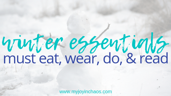 Winter is here - so what should we do? What should we eat? These are my top winter activities, winter foods, winter fashions, and winter reads.