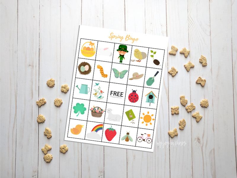 Free printable Spring Bingo game to play at home