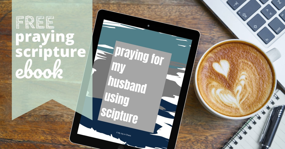 Get a free copy of the Praying for My Husband Using Scripture ebook
