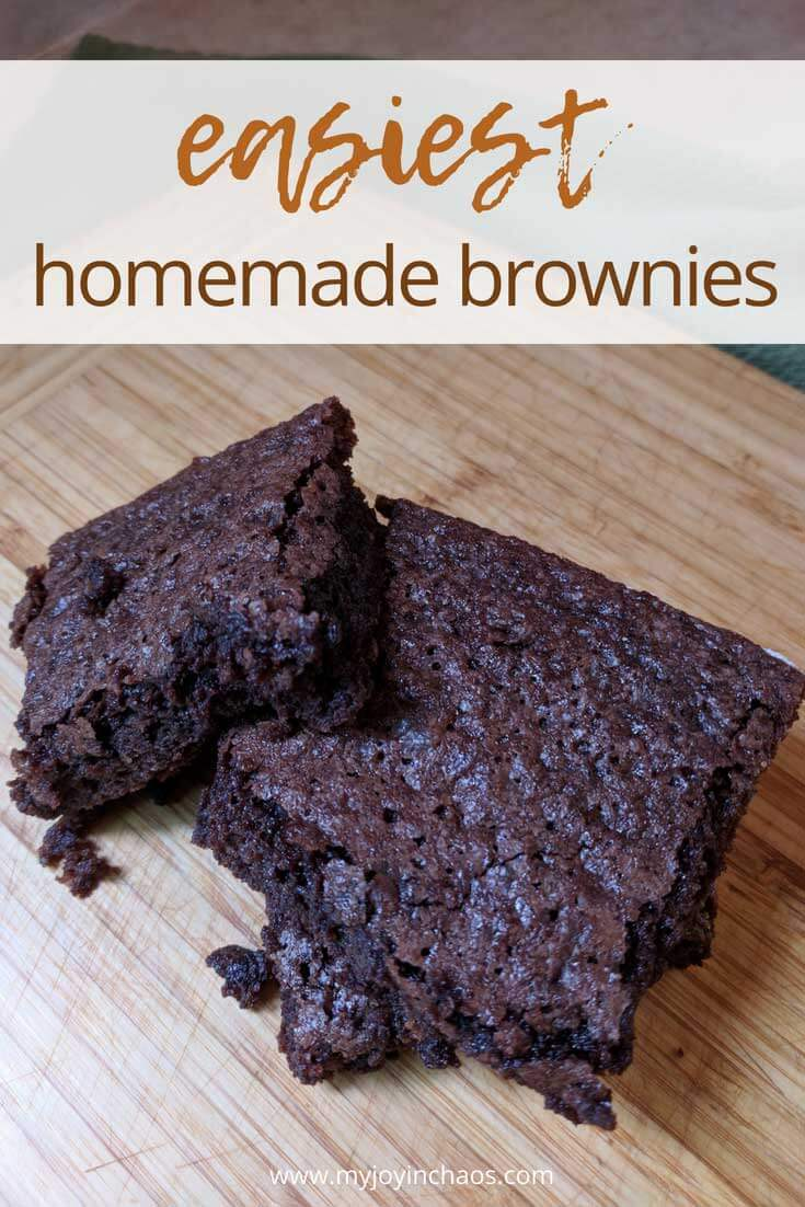 Put away the boxed brownie mix and make these incredible homemade brownies that come together in minutes.