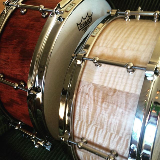 #minerdrums Snare No. 0005 and No. 0008. #drummer #snaredrum #drums #remo #trickdrums @remopercussion @truthcustomdrums