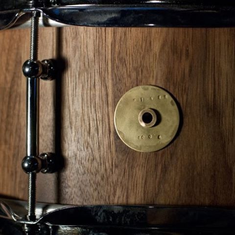 "Miner Snare No. 0004. Walnut. 5.5"" x 14. #drums #drummer #drumming #snaredrum #woodworking"