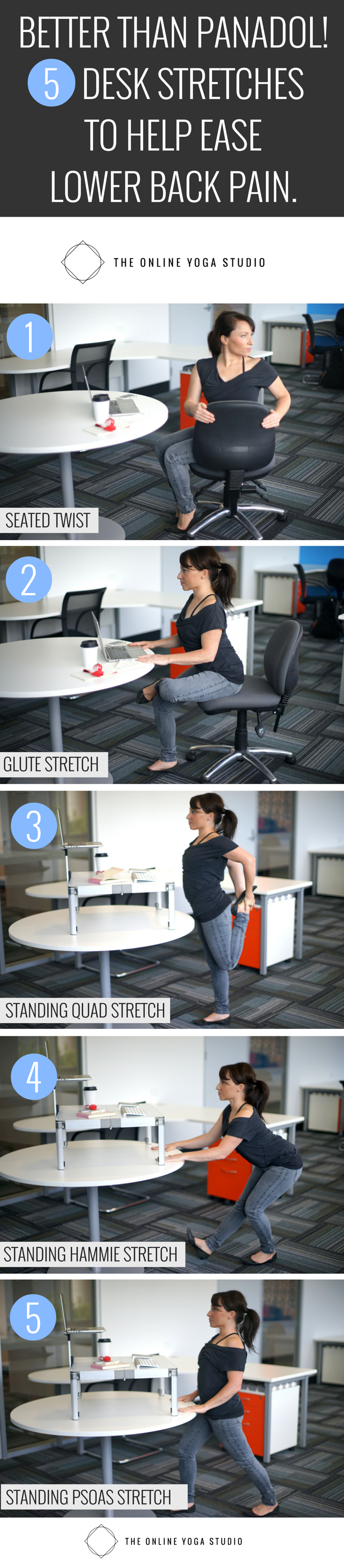 DESK STRETCHES FOR LOWER BACK PAIN