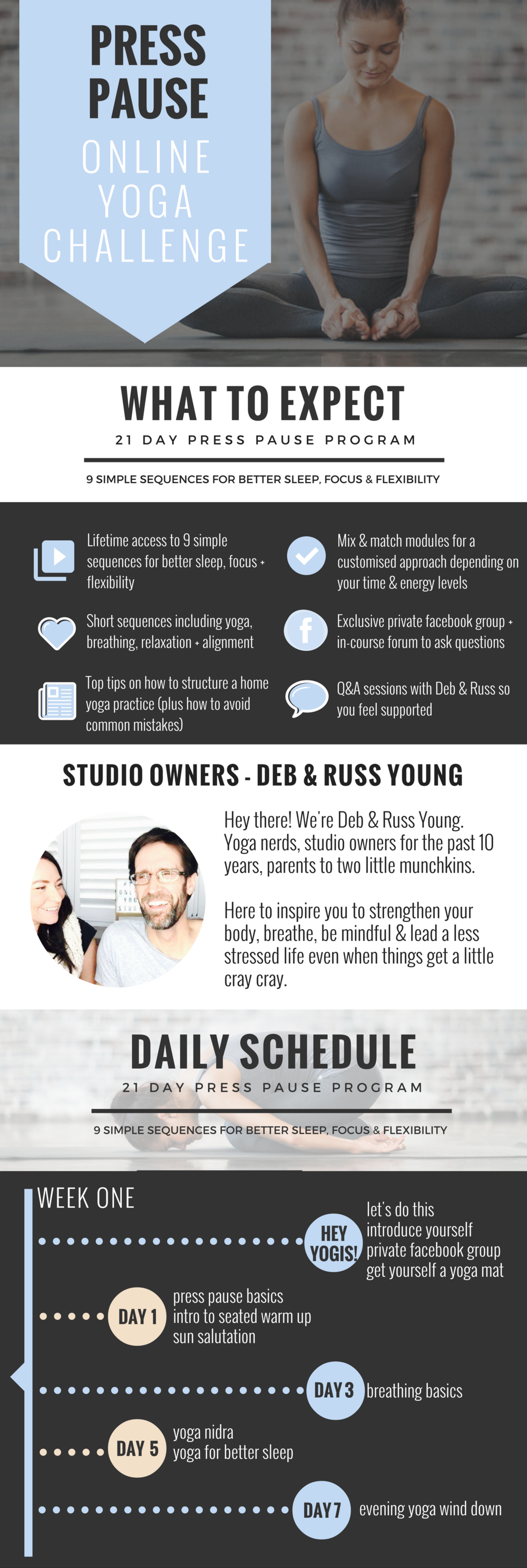 press pause infographic the online yoga studio