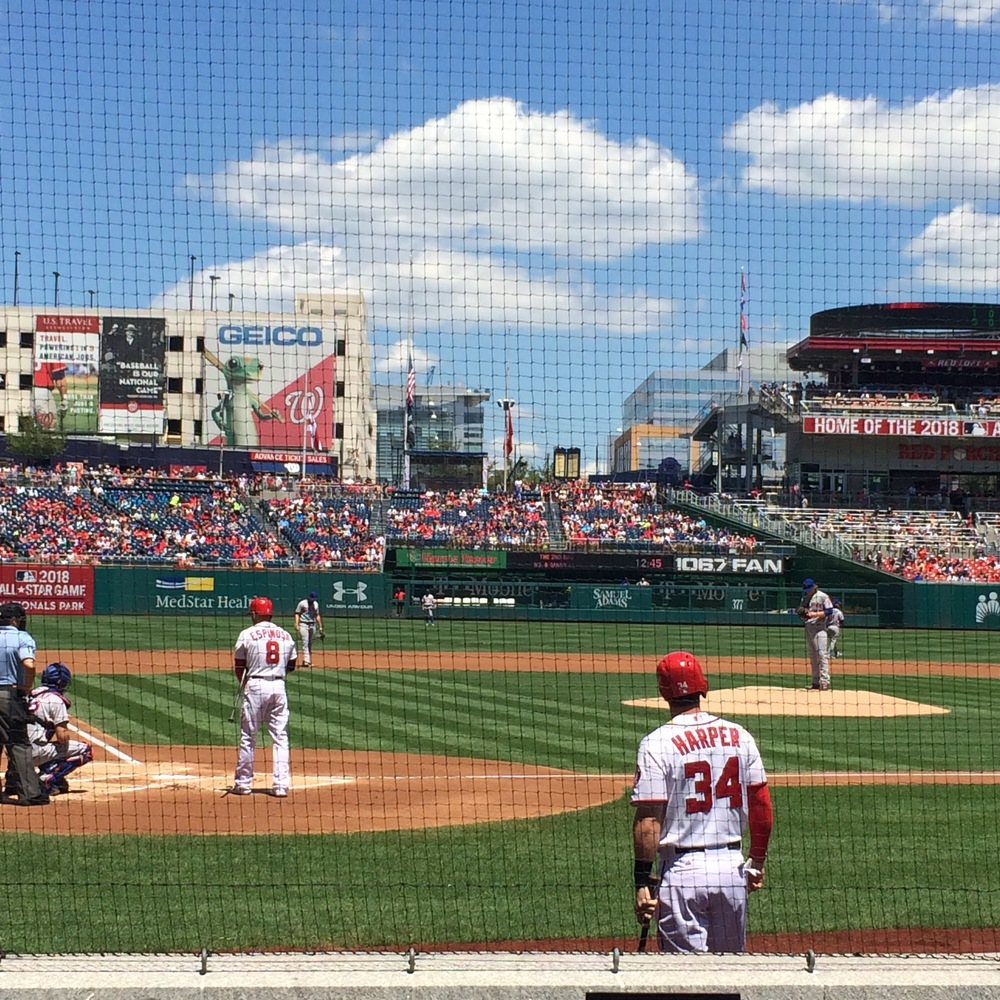 Up close with Harper, from Mets @ Nationals, 7/22/15 game ( Karl's Instagram )