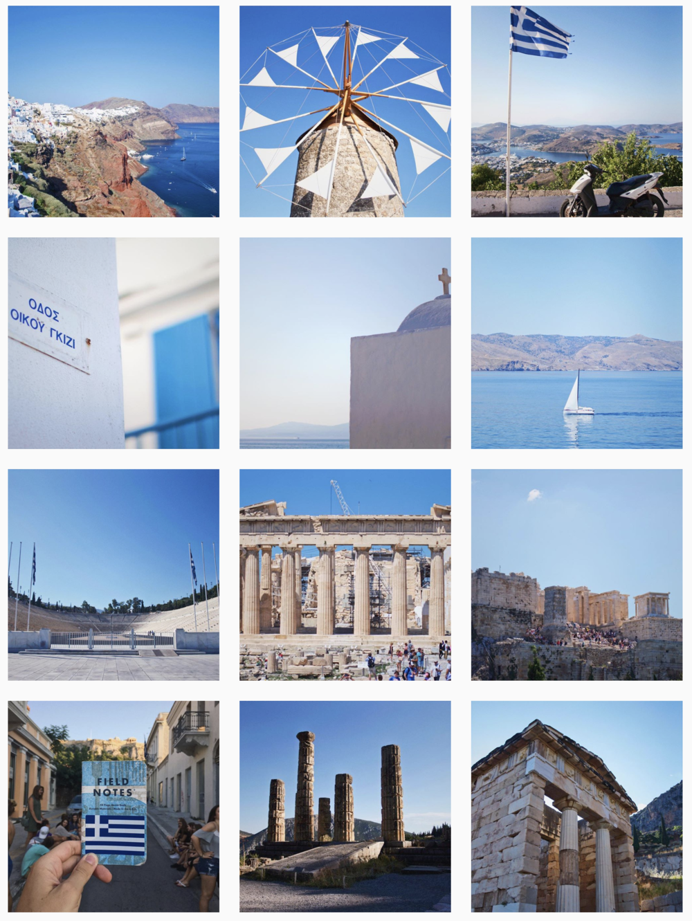 The blues and whites of Greece