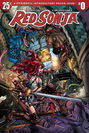 On Sale - December 14th The barbarian She-Devil with a Sword faces a whole different world and challenges in this new adventure written by Amy Chu and drawn by Carlos Gomez. Somewhere deep underground, strange and powerful demons clad in metal armor attack and roust Red Sonja from a deep magical sleep. Confused and weaponless, she must find a way to defeat these mysterious creatures, escape from her solitary prison, and make her way to the surface to discover where she is, and why she was put there...