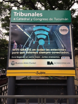 Free wifi across the whole of Buenos Aires