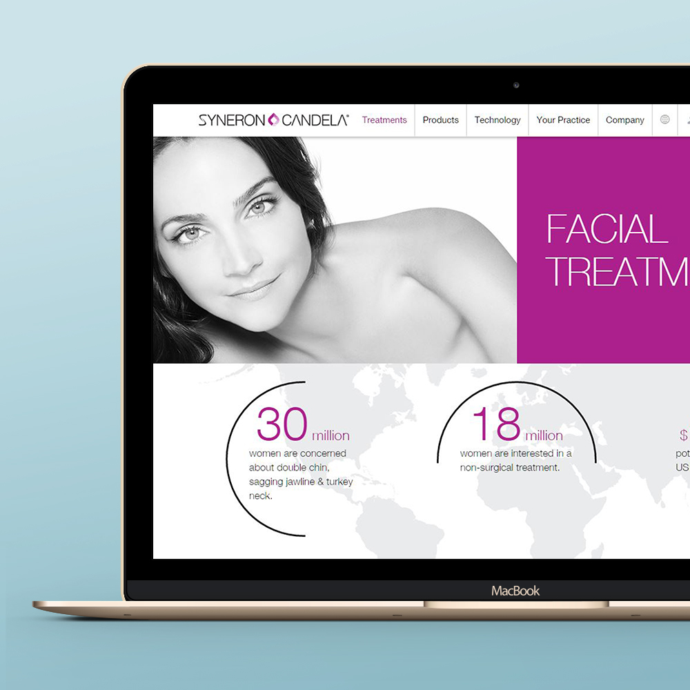 Websites design for Syneron