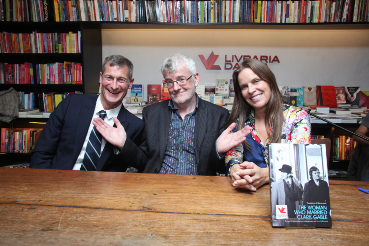 Lance, Thaddeus O'Sullivan and Beatriz: Livraria Sao Paulo, 2013 book launch of Clark Gable