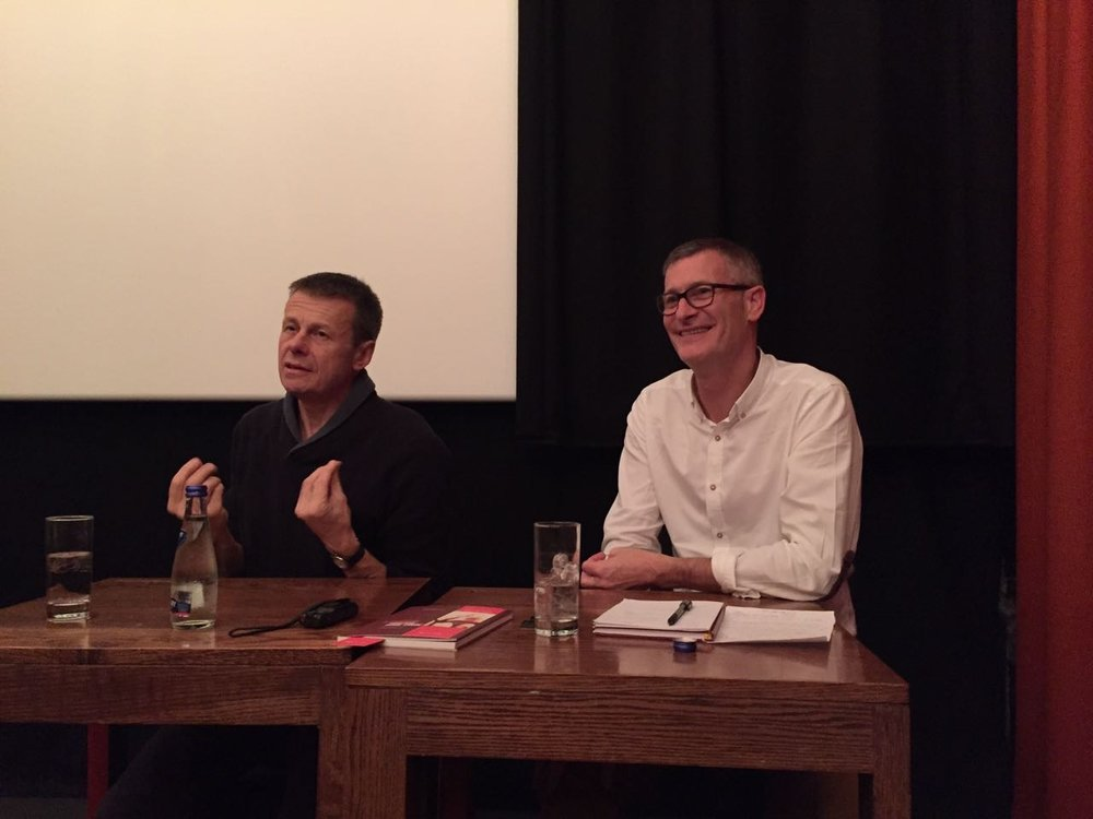 Post screening at the IFI in October (Alan Gilsenan - left)