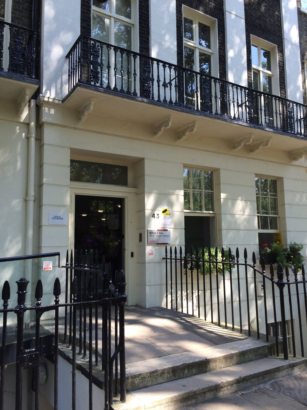 School of Arts, 43 Gordon Square in the heart of Bloomsbury