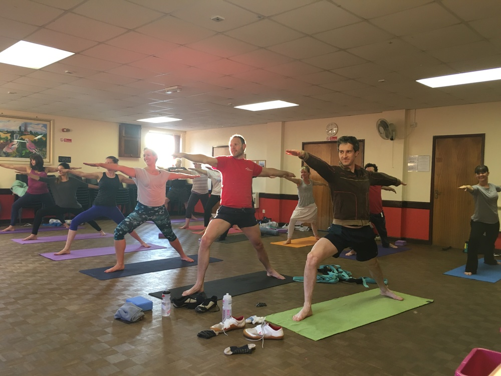 A group of super strong warriors on International day of Yoga
