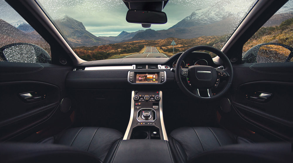 Land Rover Evoque Interior - Skye. Image © Dean Wright Photography