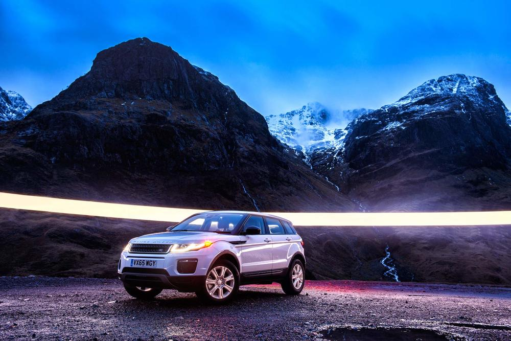 Land Rover Evoque - Glencoe. Image © Dean Wright Photography