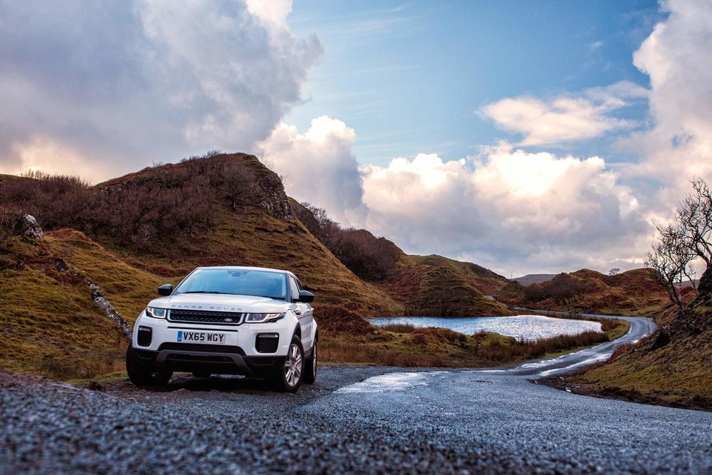 Land Rover Evoque - Fairy Glen, Skye. Image © Dean Wright Photography
