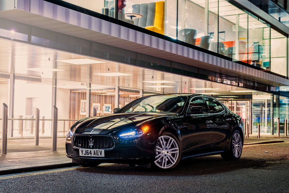 Maserati Ghibli parked up in the City of London