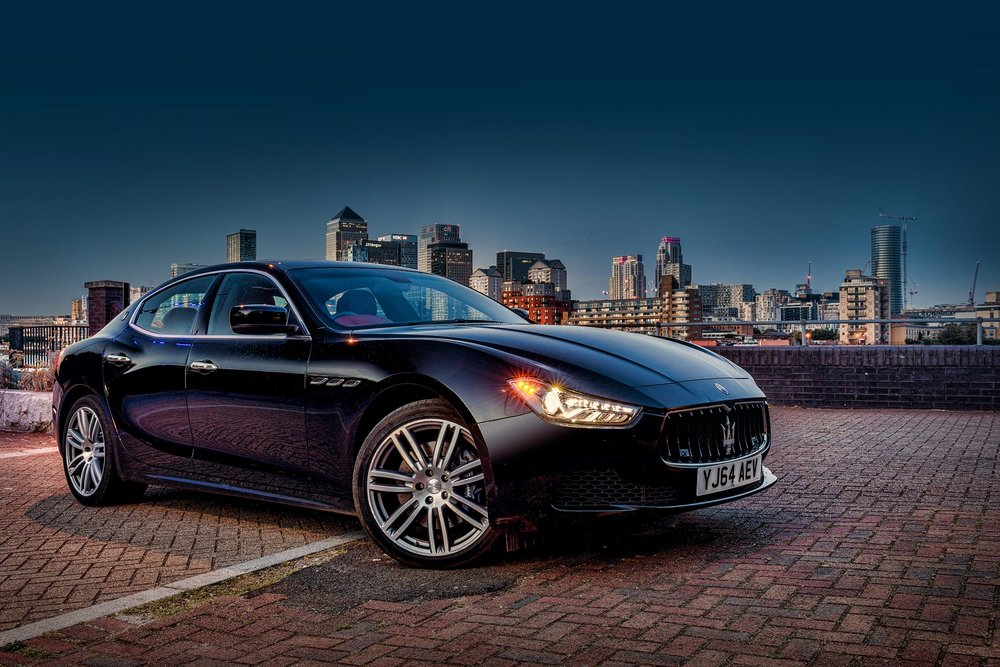Maserati Ghibli City of London backdrop