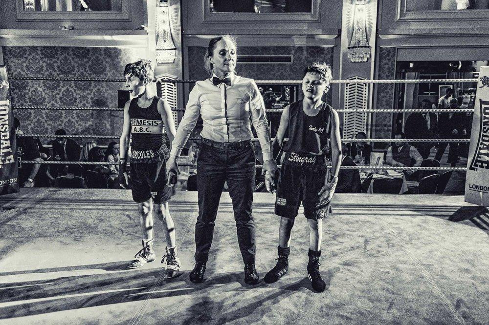 Boxers wait nervously for judges final decision