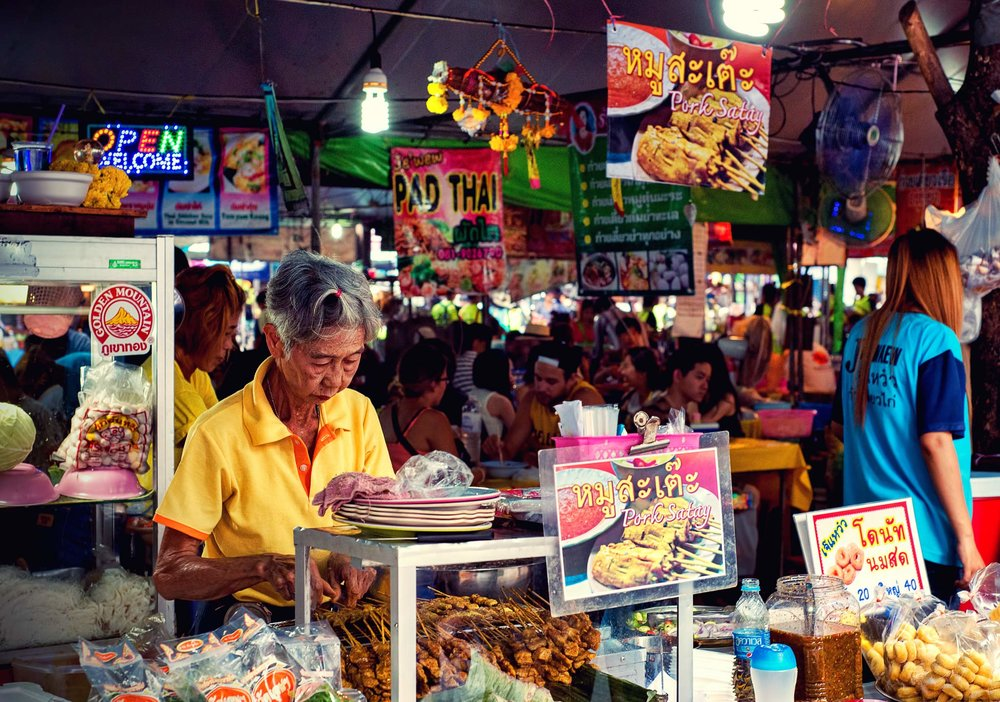 Satay and Donut cafe Chatuchak Market Bangkok -  Dean Wright Photography
