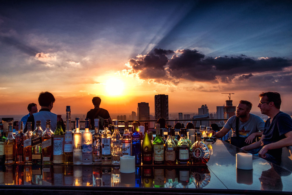 Sunset from the top of the Banyan Tree Hotel Bangkok  - Dean Wright Photography