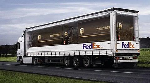 {FedEx sending UPS? Funny!}