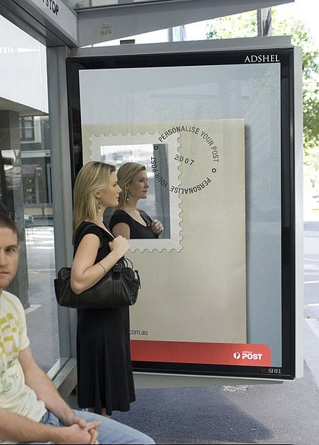 {Personalise your post - even a reflection of you! How creative!}