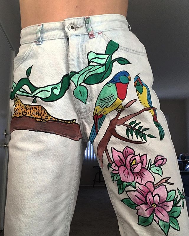 🌸 HAND PAINTED BOTTOM IN PROGRESS 🌴🐯