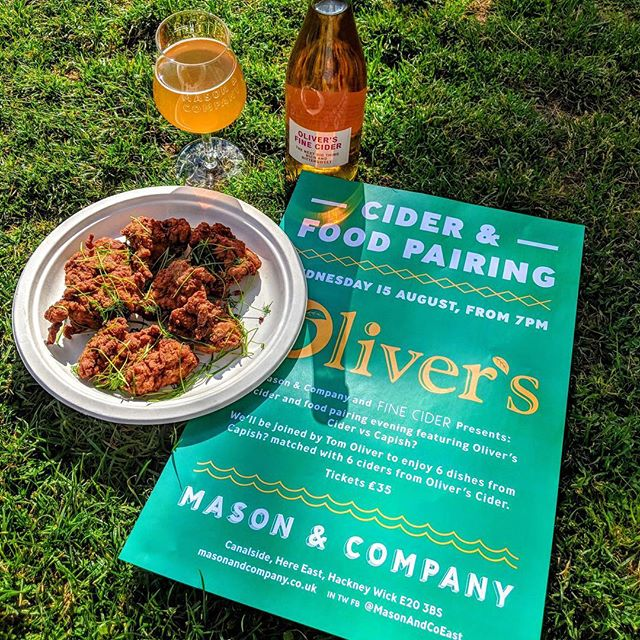 Fried chicken and fine cider anyone? Very excited for this dinner we're putting together @masonandcoeast pairing 6 courses together with some incredible ciders and perrys from @olivers_cider. Tickets available now via @masonandcoeast. Link in bio. #finecider #ciderandfood
