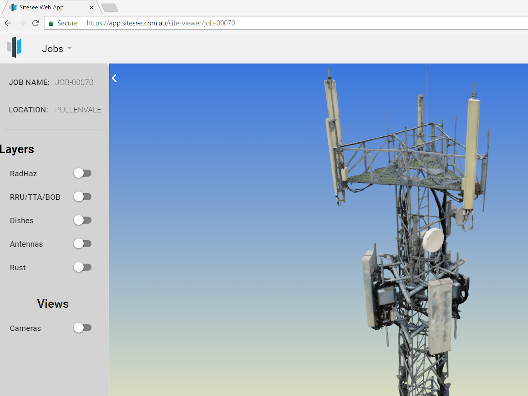 Telco tower reality model