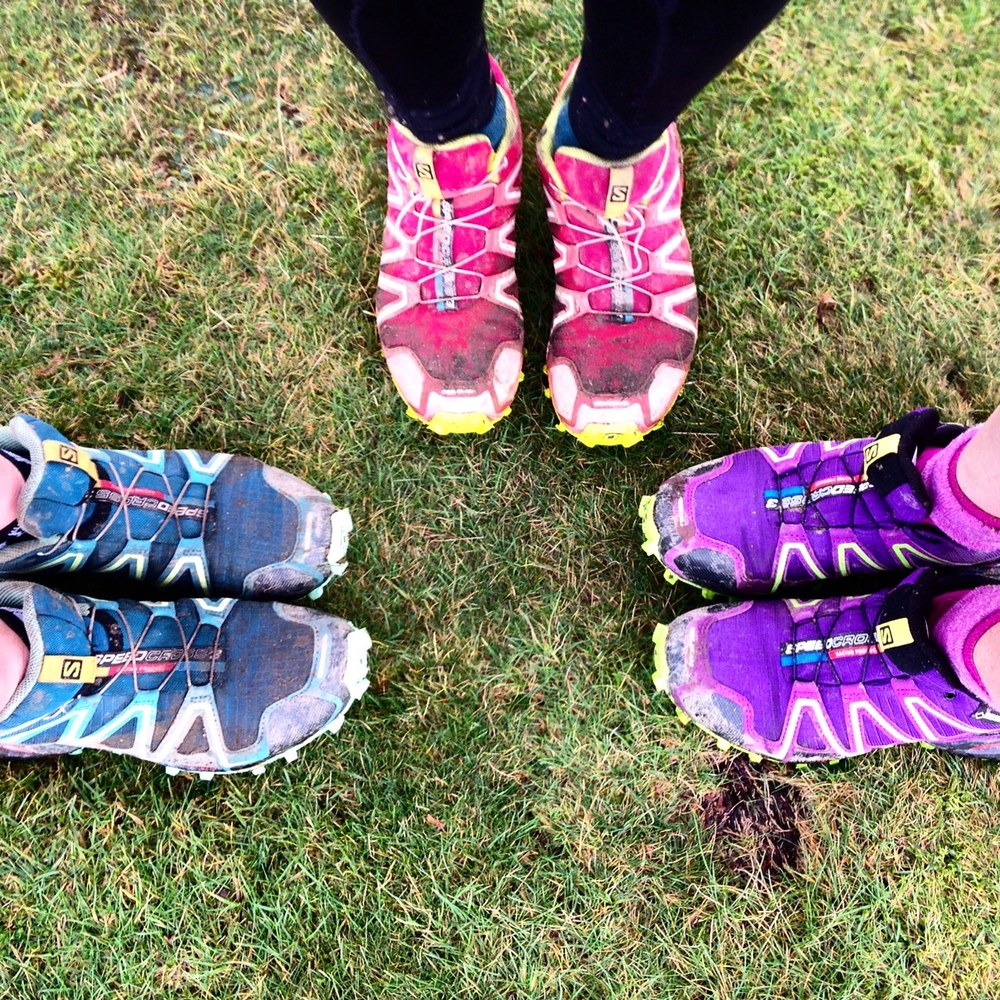 We all turned up in the same Salomon Speed Cross 3s!