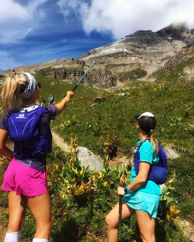 Happy birthday to @samosmorton. Trail running babe and badass. Helps me remember suncream. Makes me laugh . Here we were looking at the crazy route @kevchx74 had in mind for us in Switzerland. Sam made it to the very top (typical badass behaviour) . #timetoplay #mates #adventure #birthday #wanderlust #summer #exploremore #expandyourplayground #alpinebabes #lifestyle #travelingram #explore #adventure #Alps #outdoors #outdoorswomen #fitness #training #trailrunning #runnersofinstagram #run #happy #love