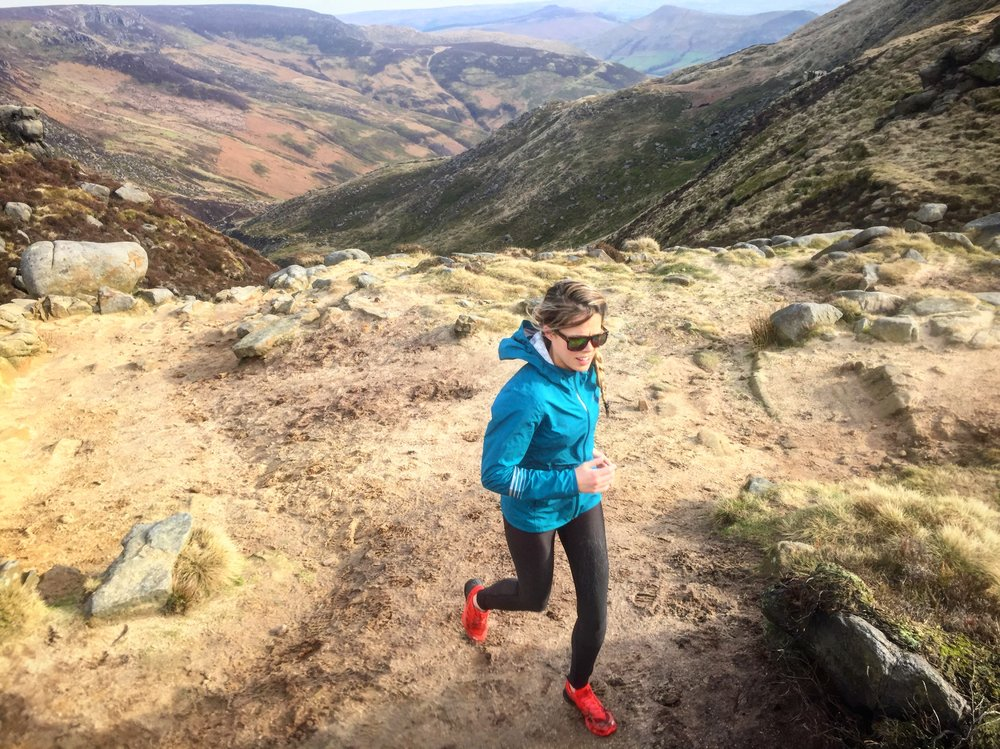 A great day - running recently back in the UK: Edale
