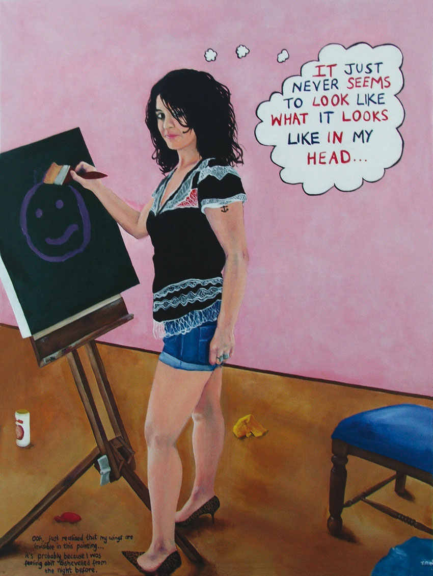 'In My Head' acrylic on canvas, acrylic on canvas, 200 x 80cms. 2007