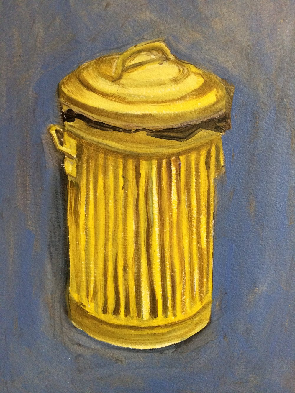 Oh Bollox the bin needs to be emptied again  23 x 15.5cms (oil on paper)  Baby's age - 4 months  Painting time - 30 minutes  Completed - 2/3/2017