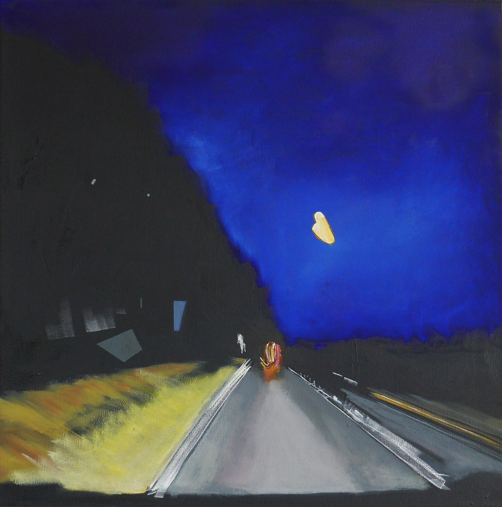 TRAVELLING WEST | OIL ON CANVAS AND BOARD