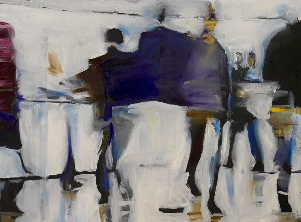 ON THE MOVE I | OIL ON BOARD (SOLD)