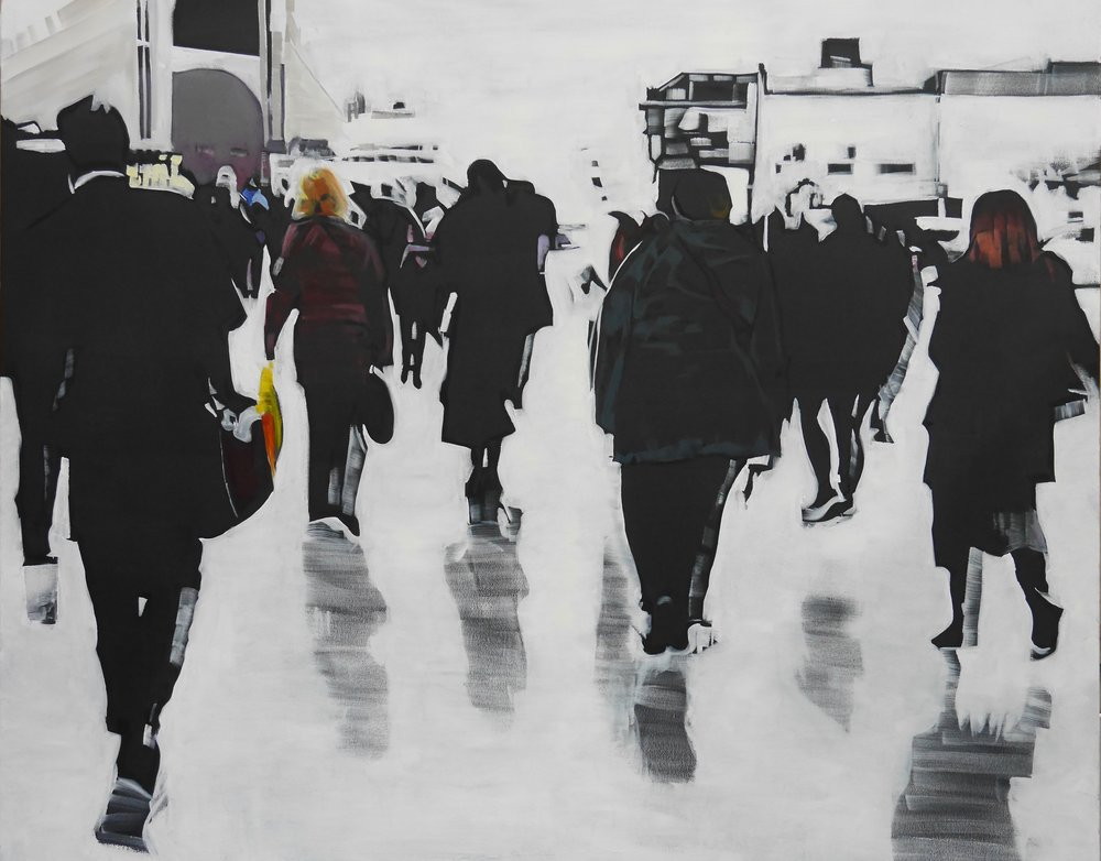 Home time,  oil on canvas  80 x 100cm