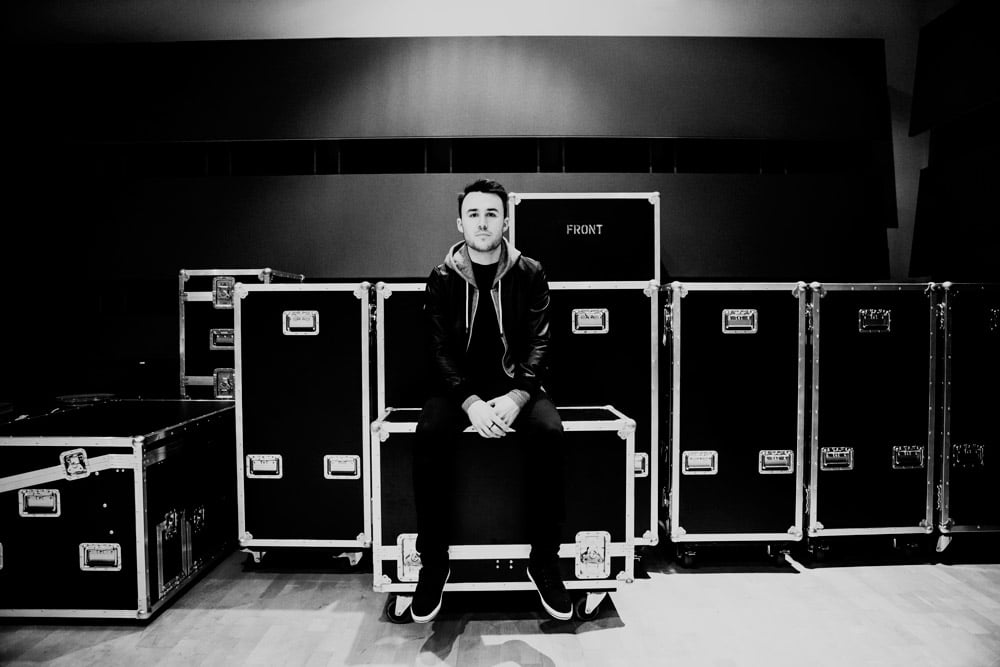 Sitting on flightcases was always a favourite past-time of mine