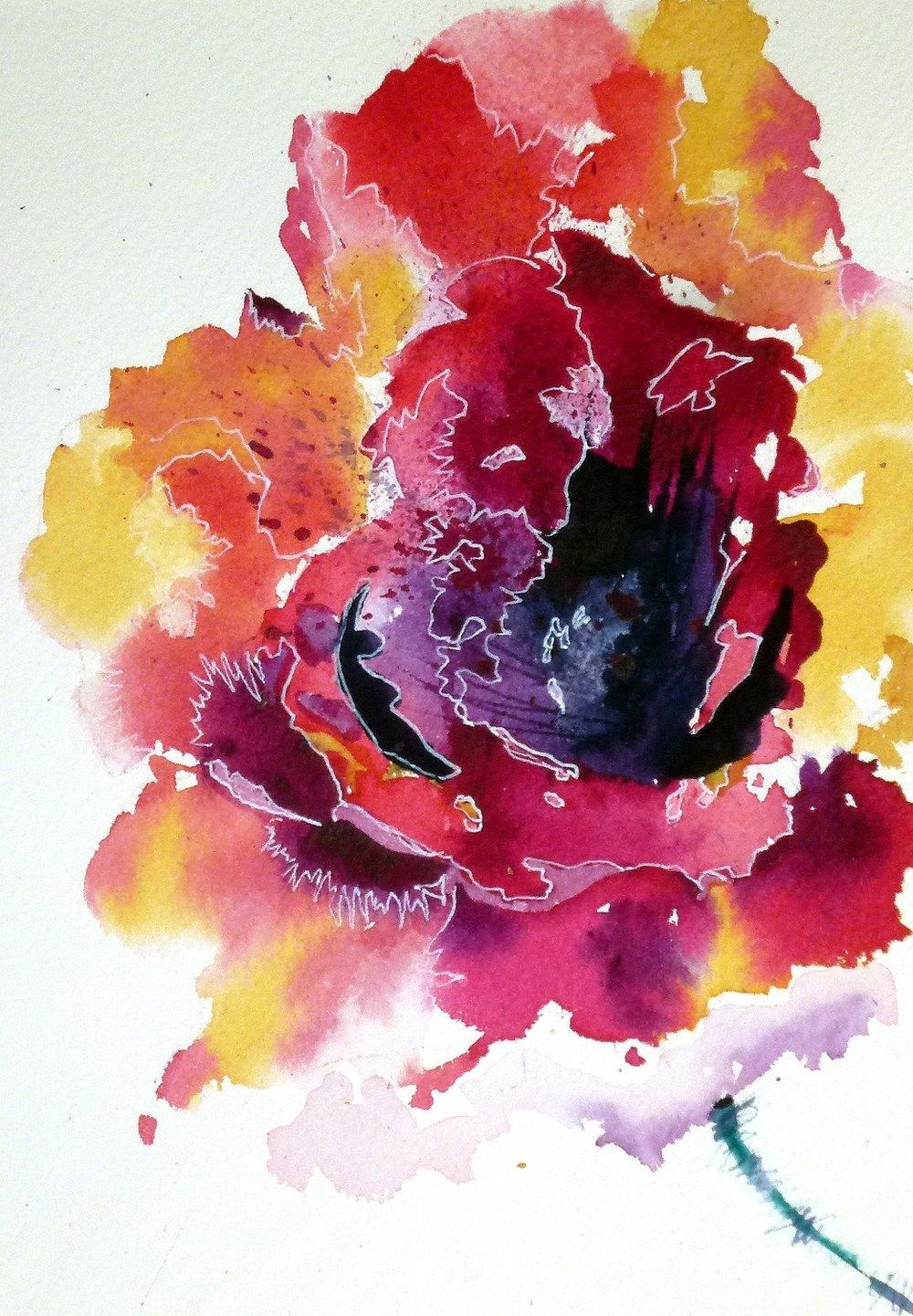 STARMAN - flower painting