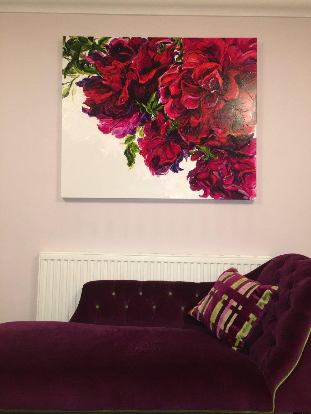 in situ - flower painting