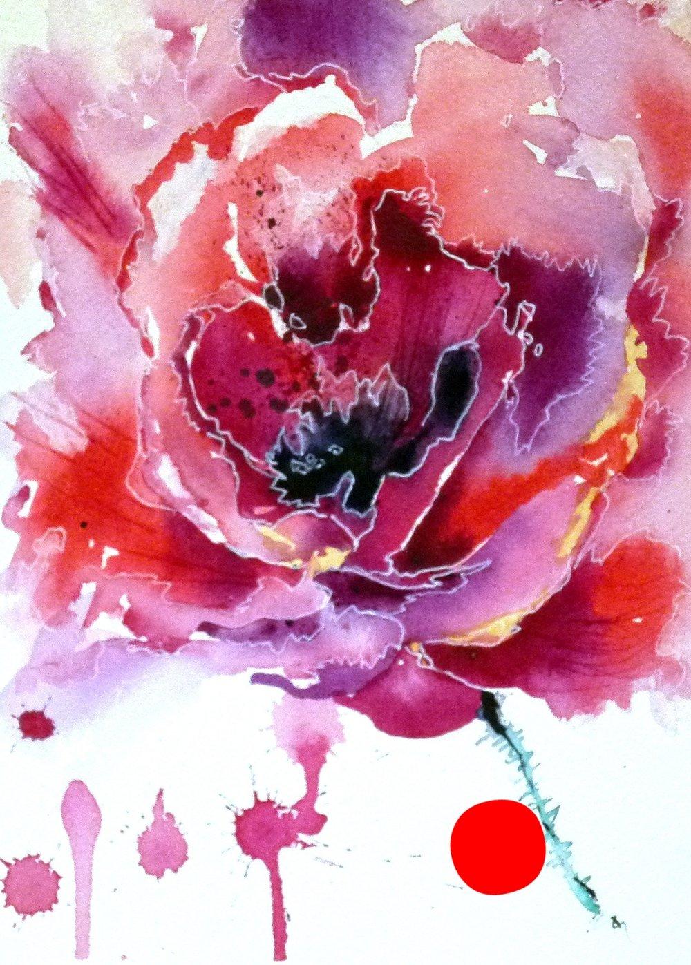 HEROES - flower painting