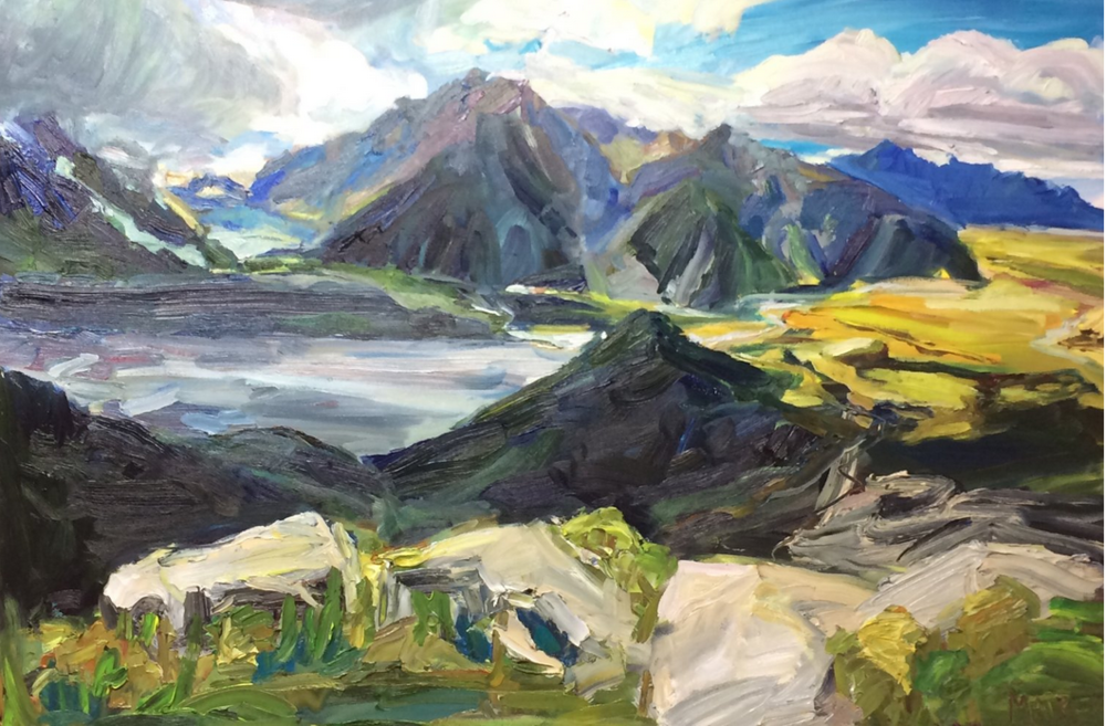 New Zealand - Check out my video of painting Mt. Cook, New Zealand in my art studio. I was sent a photo of Sealy Tarns Track in Aoraki, Mount Cook National Park, New Zealand by two world travelers. Click for more.