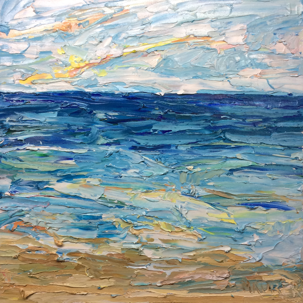 Ocean Sun, Oil on canvas, 24x24 inches, $445, Jodie Maurer