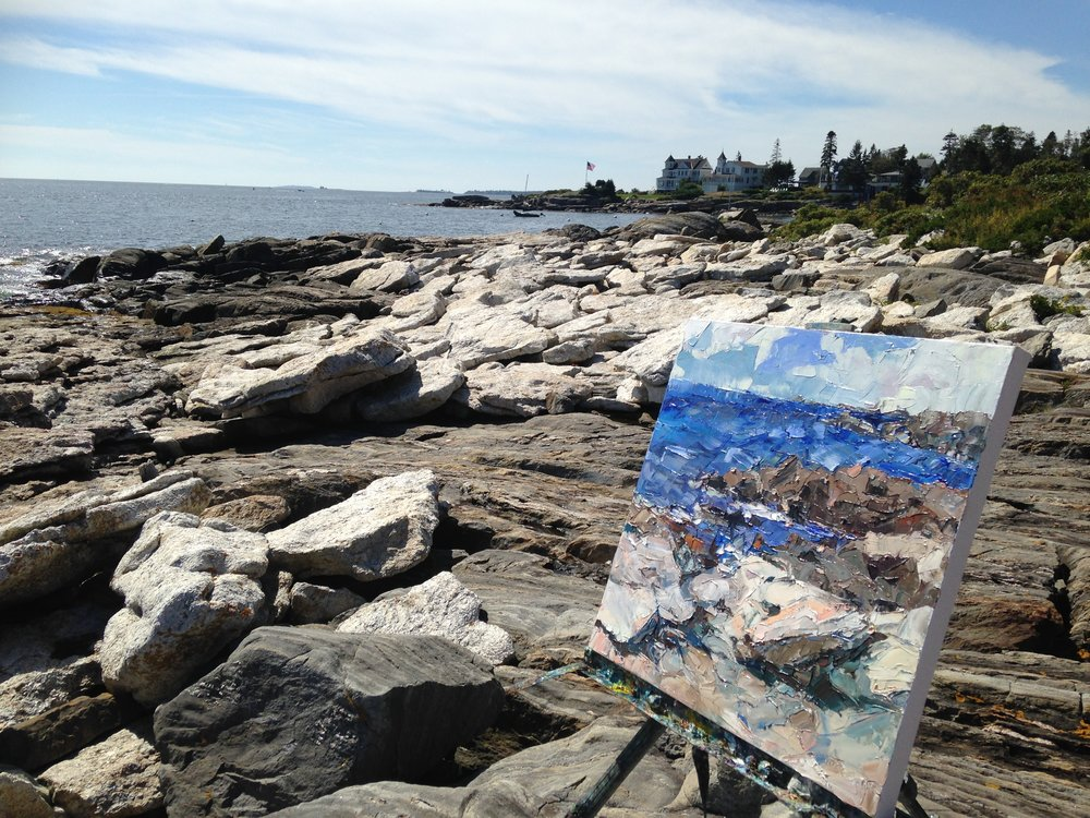 Plein Air, Grimes Cove, ME
