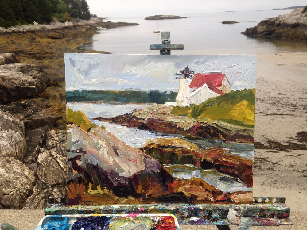 Plein Air, Hendrick's Cove Lighthouse, ME