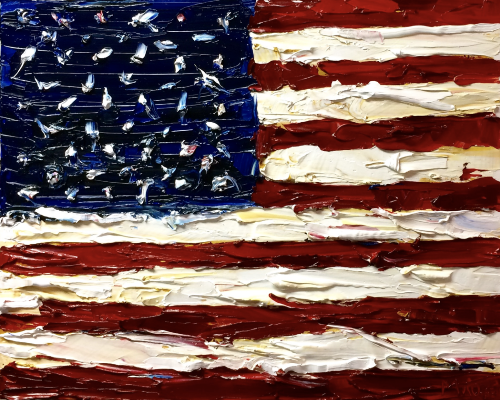 United We Stand - Check out my video and contact me to commission your own USA Flag painting. Click for more.