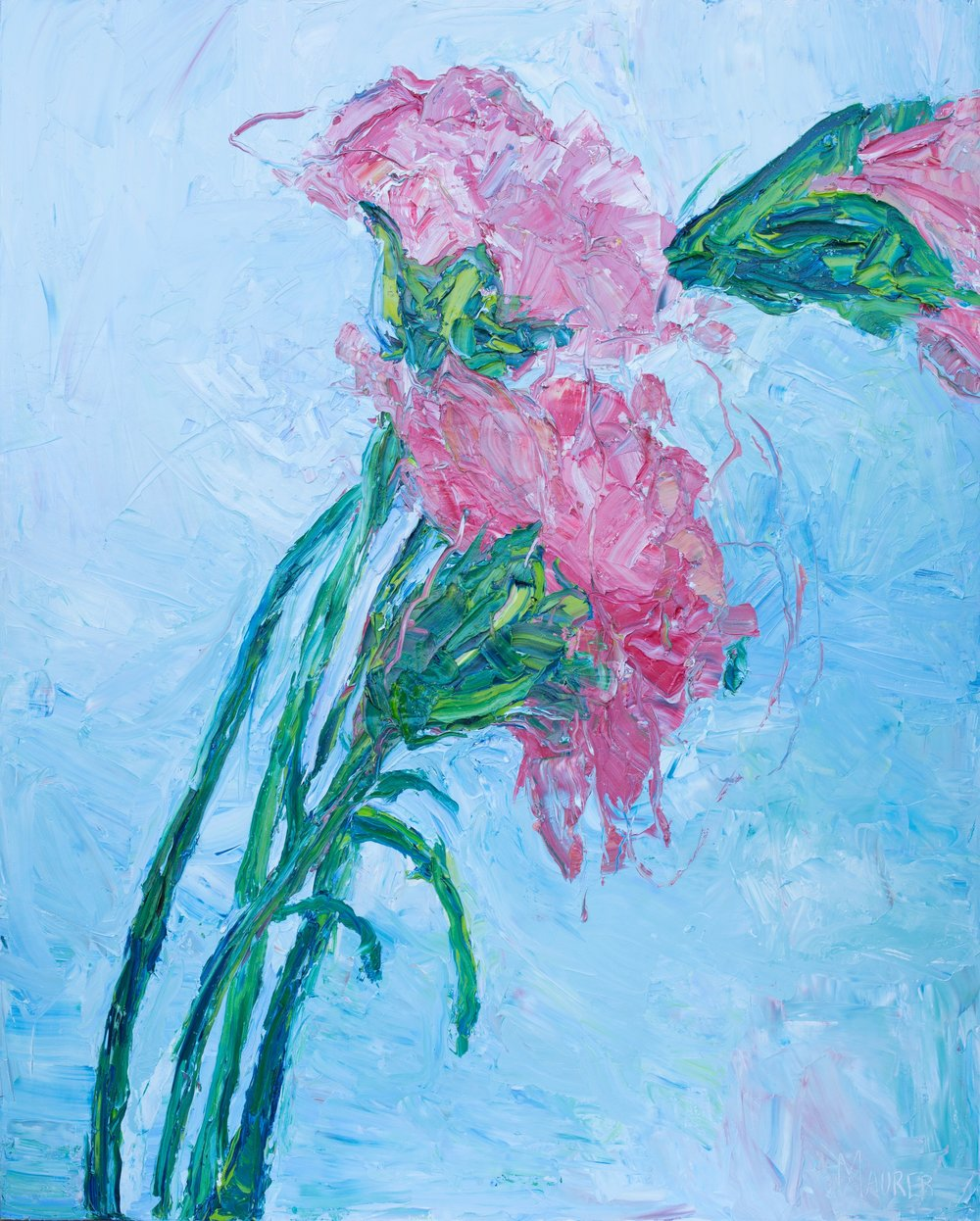 Three Pink Carnations - Check out my painting video!