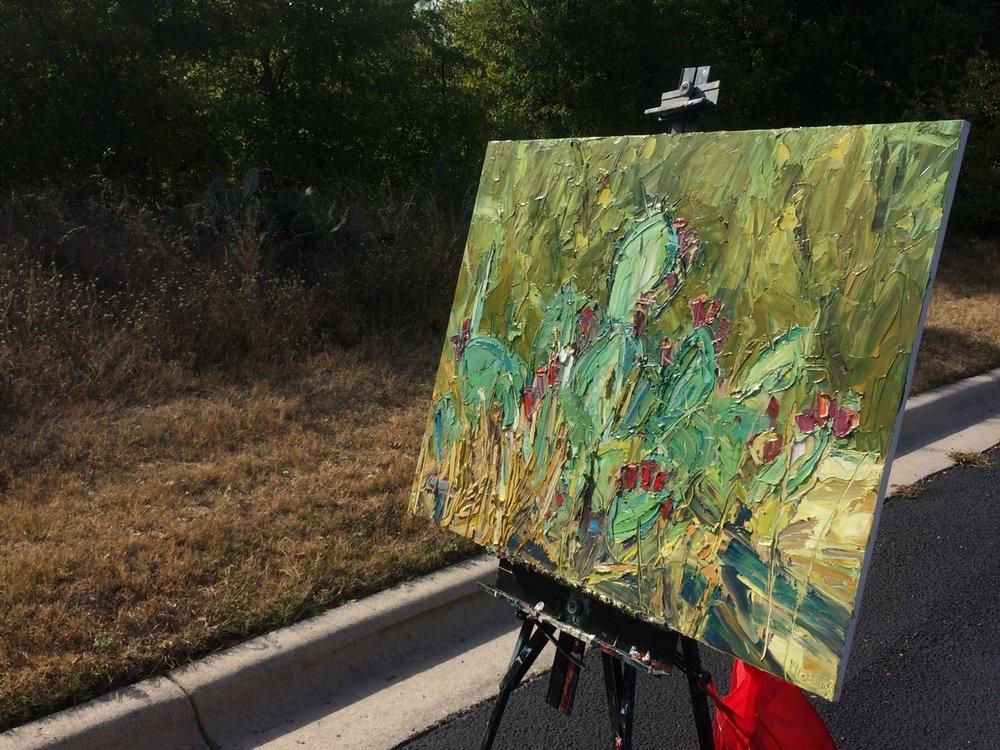 cactus oil painting